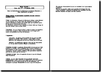 Cass. 1ère civ. 31 janvier 1978