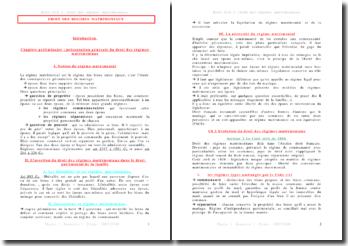 Droit des régimes matrimoniaux (2008)