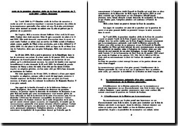 Cass. 1ère Civ. 7 Avril 2006 : Affaire Benjamin