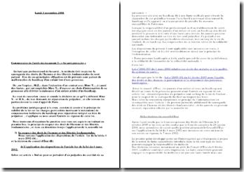 Commentaire de deux arrêts anti perruche: Cass. 1ère Civ. 24 janvier 2006 et CE 24 février 2006