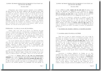 La révision des mesures relatives à l'autorité parentale et à la contribution aux frais d'entretien des enfants