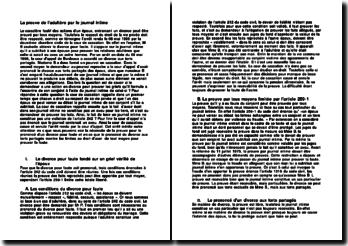 Cass 2ème Civ. 6 mai 1999 - la preuve de l'aldutère par le journal intime