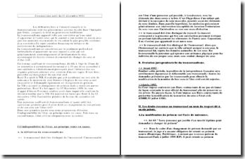 Cass. Ass. 11 décembre 1992 - Indisponibilité de l'état et transsexualisme