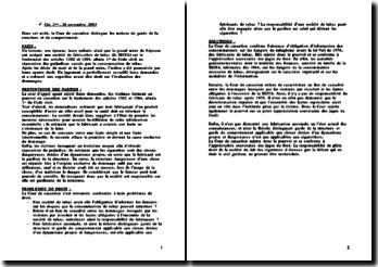 Cass. 2ème Civ. 20 novembre 2003