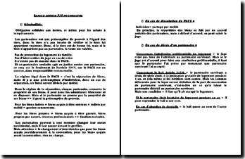 Le PACS, article 515 du Code Civil