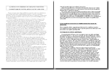 Commentaire du nouvel article 425 du code civil
