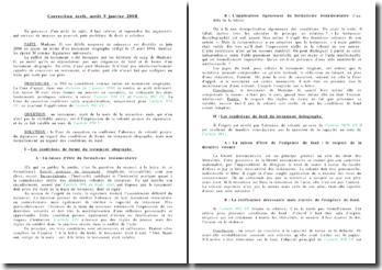 Cassation 9 janvier 2008 - testament olographe