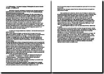 Le devoir conjugal, Philosophie du code et morale du juge - J.M Bruguière
