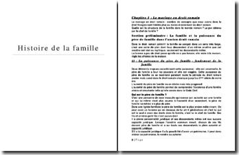 Histoire de la famille