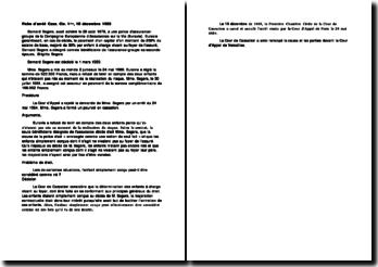 Fiche d'arrêt: Cass Civil 1ère, 10 décembre 1985