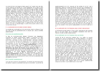 La conformité de la loi française aux normes qui lui sont supérieures - la primauté entre traité et loi, le critère chronologique, le critère hierarchique