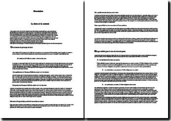 Dissertation : Le tiers et le contrat