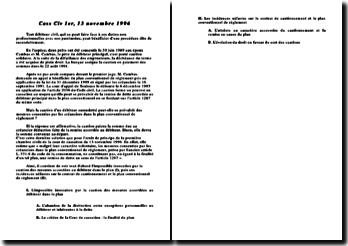 Cassation 1ère Civ. 13 novembre 1996