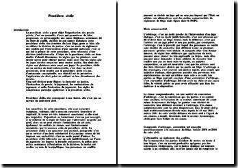 Cours de procédure civile (autre version)
