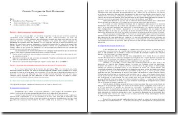 Grands principes de droit processuel