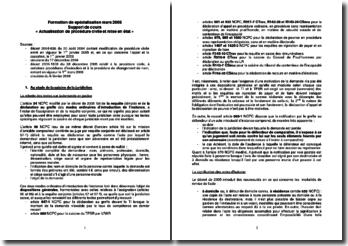 Actualisation de procédure civile et mise en état (2006)