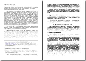 Commentaire arrêt, 13 mars 2009