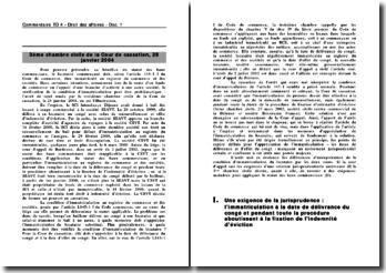 Cass. 3ème Civ. 28 janvier 2004