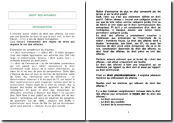 Cours de droit des affaires (version 4)