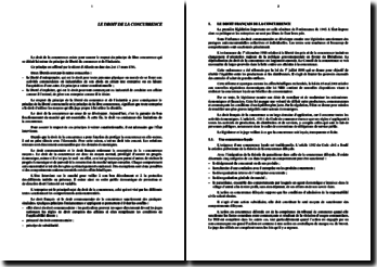 Le droit de la concurrence en France et au sein de la communauté européenne