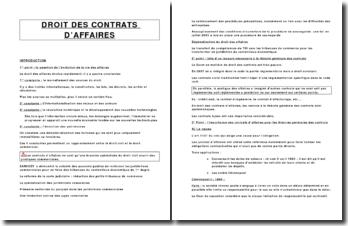 Droit des contrats d'affaires