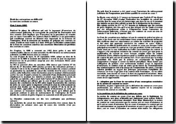 Cassation Com. 2 mars 1993 - Le sort des contrats en cours
