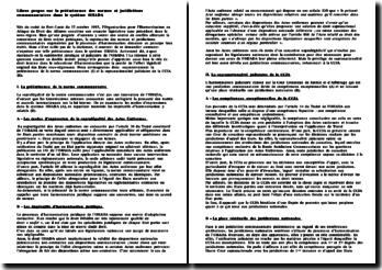La prééminence des normes et juridictions de l'OHADA