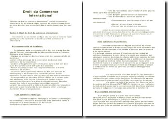 Droit du commerce international (version 2)