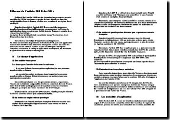 Réforme de l'article 209 B du CGI