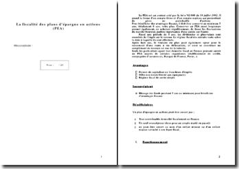 La fiscalité des plans d'épargne en actions (PEA)
