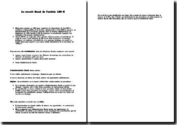 Le rescrit fiscal de l'article L80-B