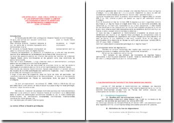 Les dispositions visant à limiter les transferts indus de bénéfices des entreprises commerciales vers l'étranger