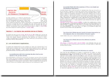 Le régime des sociétés-mères et filiales et l'intégration fiscale