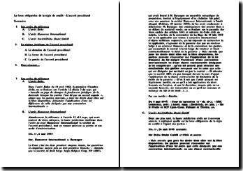 L'accord procedural