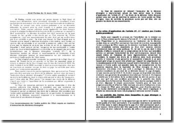 Cour de Cassation - 16 mars 1999 - Pordéa