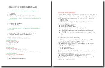 Relations Internationales, les questions stratégiques