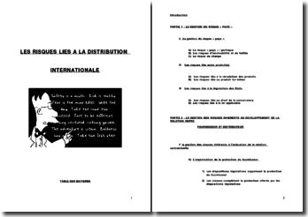 Les risques de la distribution internationale