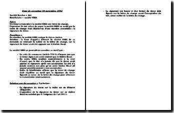 Cour de Cassation 29 novembre 1994