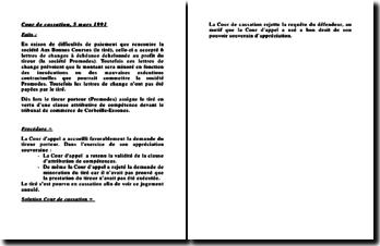 Cour de Cassation 5 mars 1991