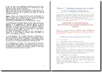 Droit du crédit de Master 1 (année scolaire 2008/2009)