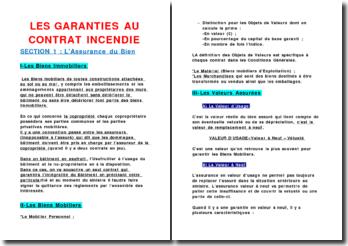 Les garanties au contrat incendie : l'assurance du bien