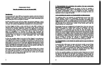 Cass. 1ère Civ. 24 mars 1987