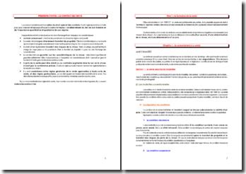 Le contrat de vente - importance quantitative et qualitative de son régime