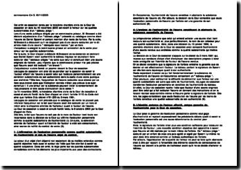 Cass. 3ème Civ. 15 novembre 2005