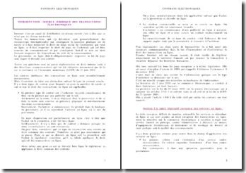 Droit des contrats électroniques