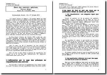 Civ. 3ème. 26 juin 1973