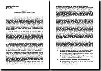 Commentaire de l'article 1371 du Code Civil