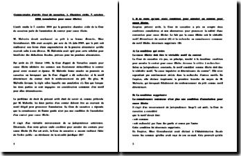 Cass. 1ère Civ. 7. octobre 1998 (annulation pour cause illicite)