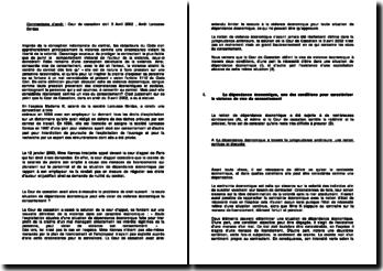 Cass. 1ère Civ. 3 Avril 2002 - Larousse Bordas