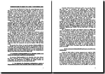 Cass. 1ère Civ. 7 novembre 2000 - Cession d'une clientèle civile